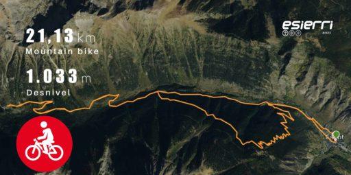 Mapa de Ruta BTT 12 Sant maurici Nivel Difícil
